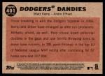 2011 Topps Heritage #401   -  Matt Kemp / Andre Ethier Dodgers Dandies Back Thumbnail