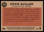2011 Topps Heritage #286  Ozzie Guillen  Back Thumbnail