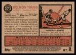 2011 Topps Heritage #272  Delmon Young  Back Thumbnail