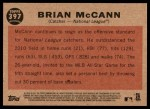 2011 Topps Heritage #397   -  Brian McCann All-Star Back Thumbnail
