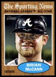 2011 Topps Heritage #397   -  Brian McCann All-Star Front Thumbnail