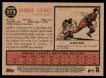 2011 Topps Heritage #375  James Loney  Back Thumbnail