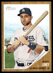 2011 Topps Heritage #375  James Loney  Front Thumbnail