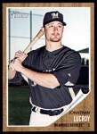 2011 Topps Heritage #247  Jonathan Lucroy  Front Thumbnail