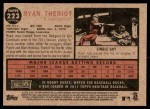 2011 Topps Heritage #223  Ryan Theriot  Back Thumbnail