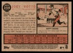 2011 Topps Heritage #350  Joey Votto  Back Thumbnail