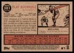 2011 Topps Heritage #301  Clay Buchholz  Back Thumbnail