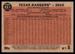2011 Topps Heritage #251   Rangers Team Back Thumbnail