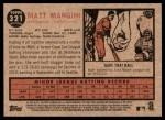 2011 Topps Heritage #321  Matt Mangini  Back Thumbnail