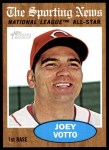 2011 Topps Heritage #398   -  Joey Votto All-Star Front Thumbnail