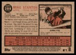 2011 Topps Heritage #288  Mike Stanton  Back Thumbnail