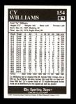 1991 Conlon #154   -  Cy Williams 1916 League Leaders Back Thumbnail