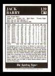 1991 Conlon #139   -  Jack Barry 1916 Champs Back Thumbnail