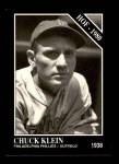 1991 Conlon #30  Chuck Klein  Front Thumbnail