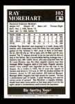 1991 Conlon #102   -  Ray Morehart 1927 Yankees Back Thumbnail