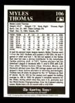 1991 Conlon #106   -  Myles Thomas 1927 Yankees Back Thumbnail