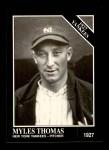 1991 Conlon #106   -  Myles Thomas 1927 Yankees Front Thumbnail