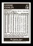1991 Conlon #62  Goose Goslin  Back Thumbnail