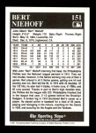 1991 Conlon #151   -  Bert Niehoff 1916 League Leaders Back Thumbnail