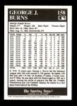 1991 Conlon #158   -  George J. Burns 1916 League Leaders Back Thumbnail