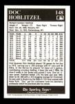 1991 Conlon #148   -  Doc Hoblitzel 1916 Champs Back Thumbnail