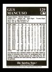 1991 Conlon #129  Gus Mancuso  Back Thumbnail