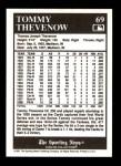 1991 Conlon #69  Tommy Thevenow  Back Thumbnail