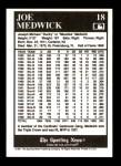 1991 Conlon #18  Ducky Medwick  Back Thumbnail