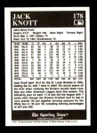1991 Conlon #178   -  Jack Knott Story Back Thumbnail