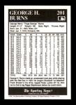 1991 Conlon #201   -  George H. Burns Triple Play Back Thumbnail