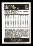1991 Conlon #292  George Grantham  Back Thumbnail