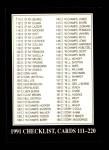 1991 Conlon #329   Checklist 111-220 Front Thumbnail