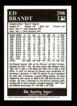 1991 Conlon #298  Ed Brandt  Back Thumbnail