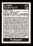 1991 Conlon #313   -  Gabby Hartnett Most Valuable Player Back Thumbnail