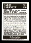 1991 Conlon #313   -  Gabby Hartnett Most Valuable Player Back Thumbnail
