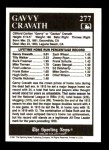 1991 Conlon #277   -  Gavvy Cravath All-Time Leaders Back Thumbnail