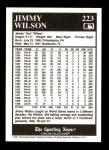 1991 Conlon #223  Jimmy Wilson  Back Thumbnail