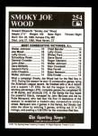 1991 Conlon #254   -  Joe Wood All-Time Leaders Back Thumbnail