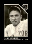 1991 Conlon #253   -  Carl Hubbell All-Time Leaders Front Thumbnail