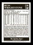 1991 Conlon #238  Russ Wrightstone  Back Thumbnail