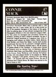 1991 Conlon #47  Connie Mack  Back Thumbnail
