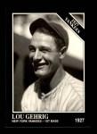 1991 Conlon #111   -  Lou Gehrig 1927 Yankees Front Thumbnail