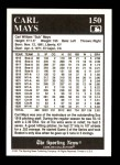 1991 Conlon #150   -  Carl Mays 1916 Champs Back Thumbnail