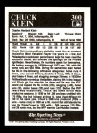 1991 Conlon #300   -  Chuck Klein Most Valuable Player Back Thumbnail