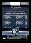 2011 Topps 60 #140 T-60 Eric Hosmer  Back Thumbnail