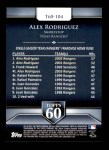 2011 Topps 60 #104 T-60 Alex Rodriguez  Back Thumbnail