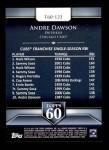 2011 Topps 60 #123 T-60 Andre Dawson  Back Thumbnail