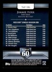 2011 Topps 60 #106 T-60 Jimmie Foxx  Back Thumbnail
