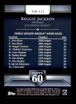 2011 Topps 60 #112 T-60 Reggie Jackson  Back Thumbnail