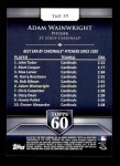 2011 Topps 60 #39 T-60 Adam Wainwright  Back Thumbnail